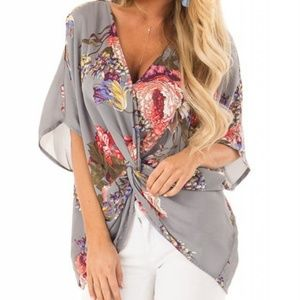 Tops - Floral Knot Top